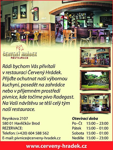 37. Restaurace Červený Hrádek Havlíčkův Brod