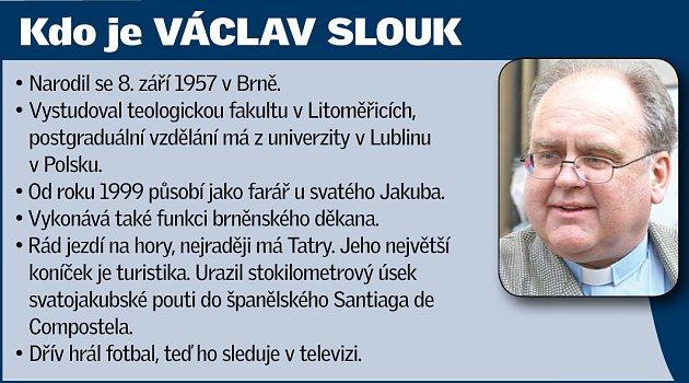 Brněnský děkan Václav Slouk.
