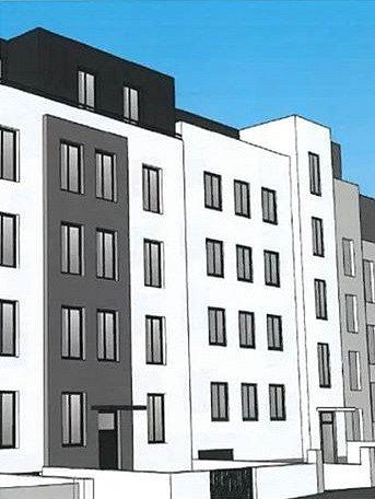 Vizualizace nové podoby domu.