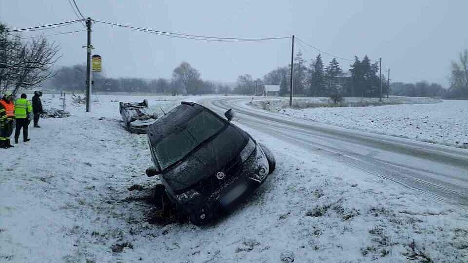 Nehoda u Rajhradic.