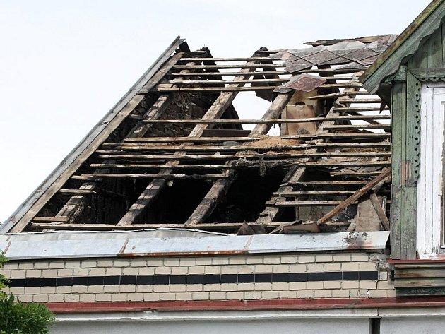 Požár domu v Jamborově ulici v brněnských Židenicích.