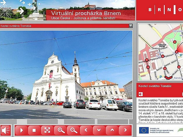 Virtuální prohlídka Brnem.