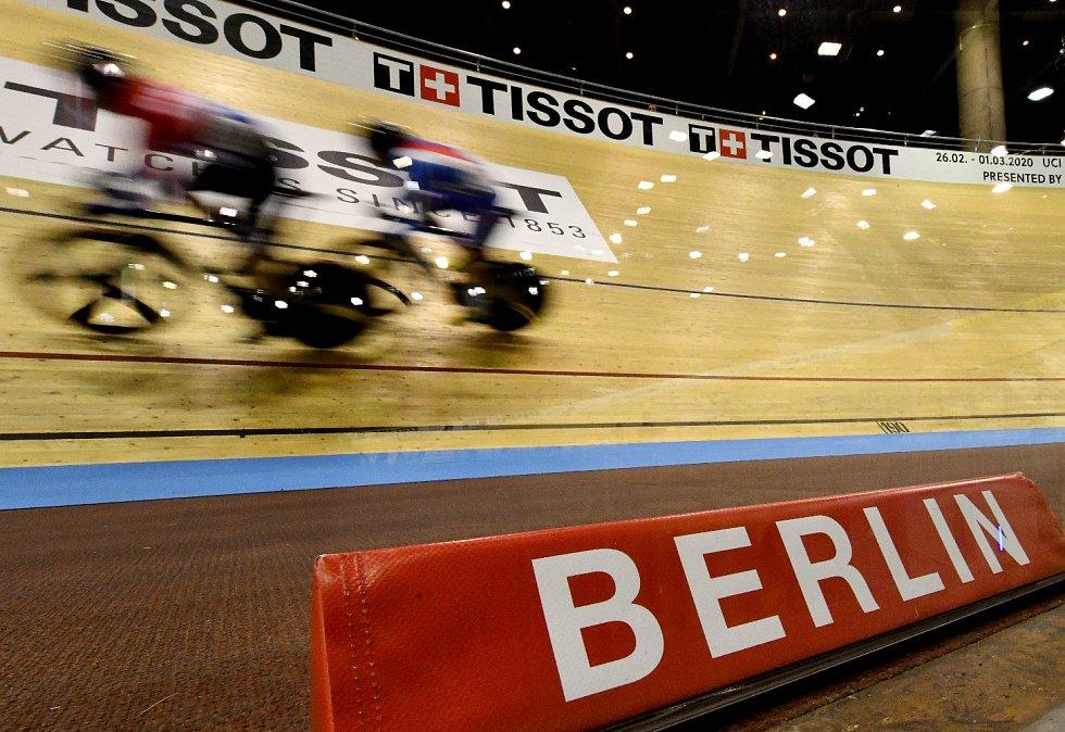 Třetí den světového poháru v dráhové cyklistice v Berlíně
