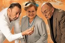 Jaroslav Dufek, Zdena Herfortová a Ladislav Lakomý (zleva).