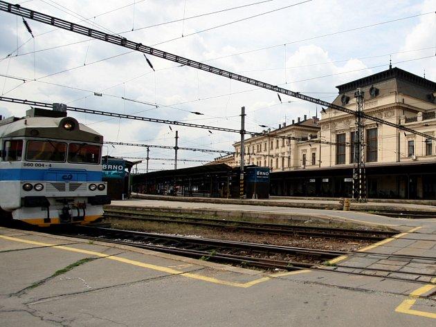 Brněnské hlavní nádraží.