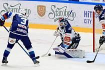 Hokejisté Komety ve čtvrtém utkání předkola play-off hostili Vítkovice.
