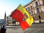 Moravská vlajka - ilustrační fotografie.