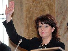 Barbora Javorová na posledním jednání brněnského zastupitelstva