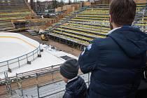 Aréna za Lužánkami pro Hokejové hry pod širým nebem. Kometa Brno tam nastoupí 3. ledna proti Plzni.