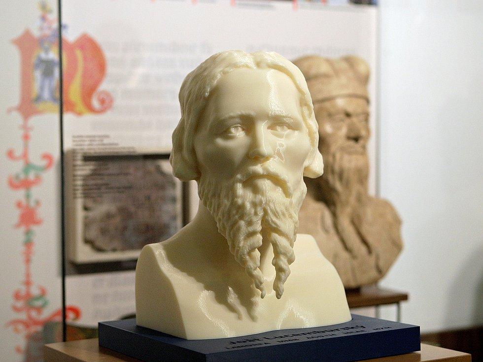 Odborníci zrekonstruovali podobu vladaře Jošta Moravského na základě laserového scanování odlitku lebky a počítačového modelování obličejových tkání. Výsledek vytiskli na 3D tiskárně.