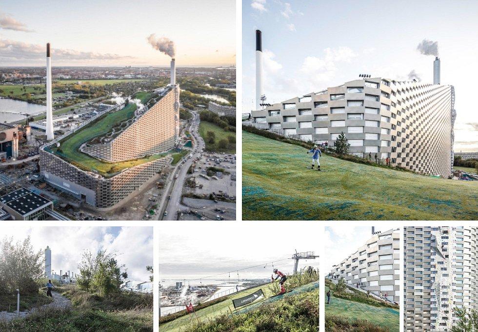 BIG – Bjarke Ingels Group, A8000 (Kodaň – České Budějovice): Elektrárna CopenHill, Kodaň, Dánsko. Vizualizace.