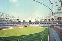 Vizualizace fotbalového stadionu za  Lužánkami