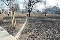 Obnova parku v Bubeníčkově ulici v brněnských Židenicích.