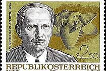 Otec turbíny Viktor Kaplan na známce.