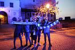 Brněnští fanoušci přišli podpořit Kometu na Zelný trh.