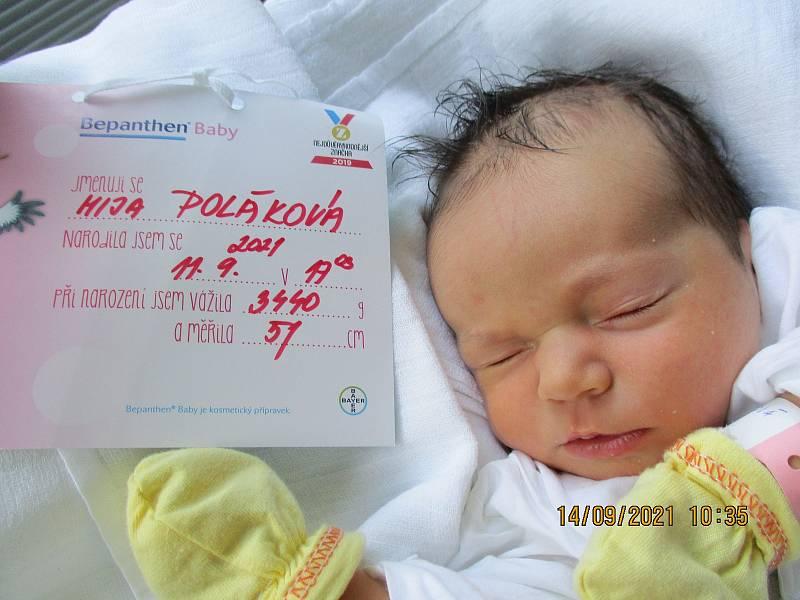 Mija Poláková, 11. 9. 2021, Břeclav, Nemocnice Břeclav, 3440 g, 51 cm