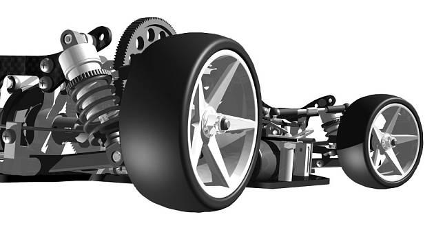 Model podvozku závodního auta