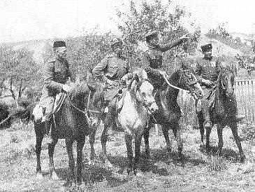 Sovětská jízda v sadech u Židlochovic