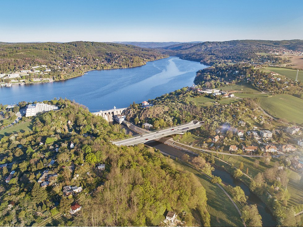 Nadhledová vizualizace údolí Svratky z dílny kanceláře Ing. arch. Pavel Jura ve spolupráci sFAST VUT.