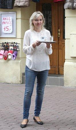 Majitelka brněnské kavárny Jiřina Plačková.