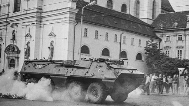 Srpnové události 1969 v Brně.