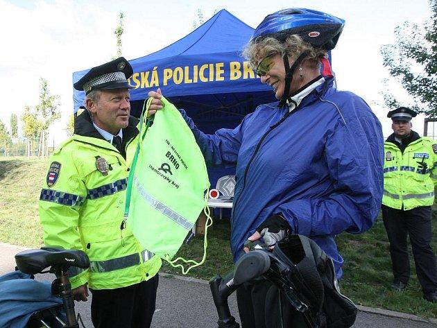 Brněnští strážníci kontrolovali cyklisty.
