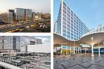 """OMA (Rotterdam): Tripla – """"tři bloky"""" v nové čtvrti Pasila, Helsinki, Finsko. Vizualizace."""