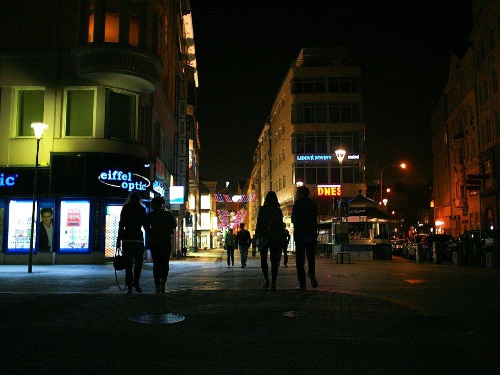 Hodina Země v Brně.