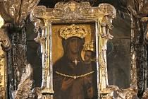 Obraz Panny Marie Svatotomské, která je uctívaná jako ochránkyně Brna.