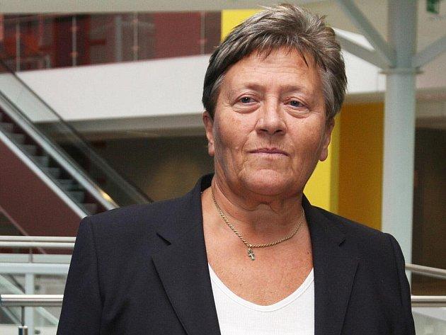 Dagmar Hrubá u brněnského soudu.