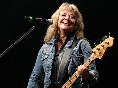 Americká zpěvačka a baskytaristka Suzi Quatro vystoupila v Brně.