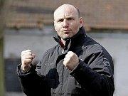 Trenér fotbalového klubu 1. SC Znojmo Milan Volf.