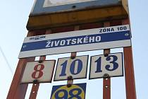 Zastávka Životského.
