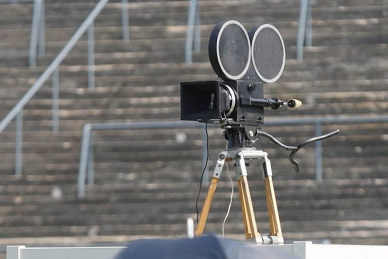 Brno 30.8.2019 - natáčení filmu Zátopek na fotbalovém stadionu za Lužánkami