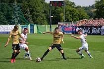 Fotbalová zápas mezi brněnskou Zbrojovkou a Líšní