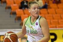 Brno 7.11.2018 - EuroCup žen mezi domácí KP Brno v bílém (Eva Kopecká) a Nantes Reze z Francie