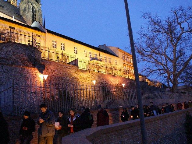 Brno - demonstrace na podporu Tibetu