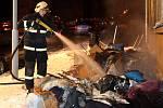 Požár přízemního bytu v cihlovém domě v Králově Poli.