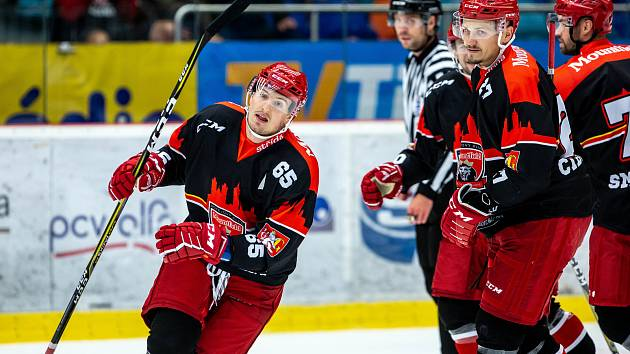 Rudolf Červený, hokej Mountfield Hradec Králové vs. AMUR Chabarovsk