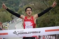 Běžecký závod Vokolo príglu 2016. Vítěz Jiří Homoláč.