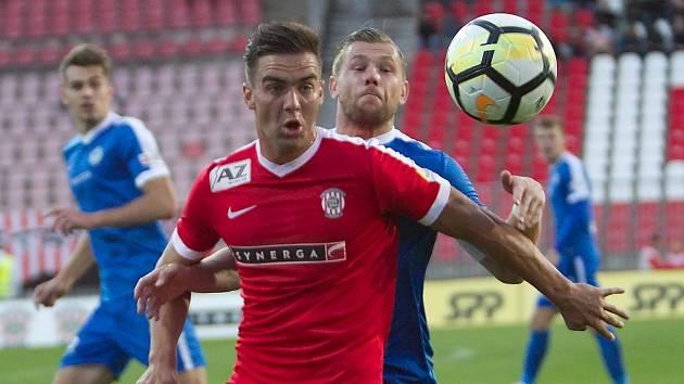 Fotbalista Martin Zikl v dresu Zbrojovky Brno.