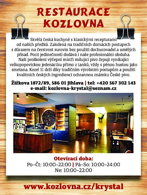 32. Restaurace Kozlovna Jihlava