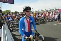 Brněnský cyklista Ivo Koblasa na londýnské paralympiádě.