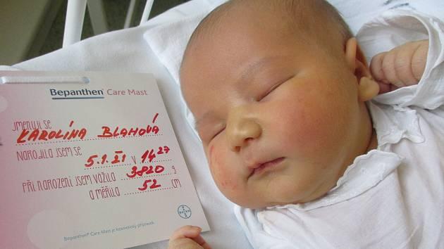 Karolína Blahová, 5. 1. 2021, Nemocnice Břeclav, Ratíškovice, 3820 g, 52 cm