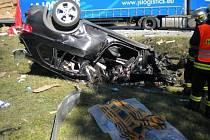 Řidič osobního auta nehodu na dálnici D1 nepřežil.