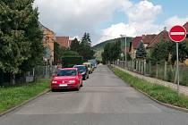 Husova ulice v Tišnově.