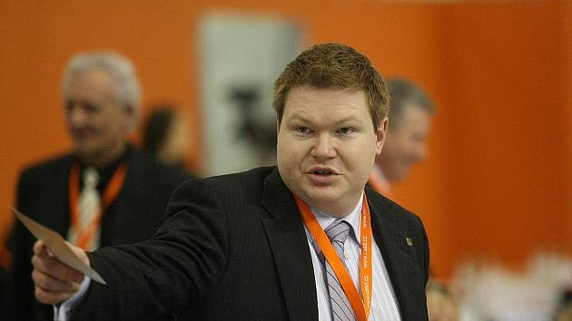 Michal Bortel na brněnském sjezdu sociálních demokratů.