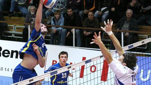 Volejbal Brno nestačil Zlínu, po 72 minutách prohrál jednoznačně 0:3.