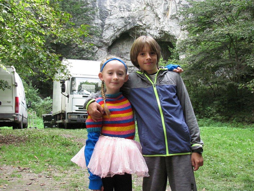 Natáčení filmu Mazel a tajemství lesa na Blanensku: