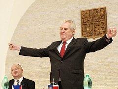 Prezident České republiky Miloš Zeman na návštěvě Jihomoravského kraje. Ilustrační foto.